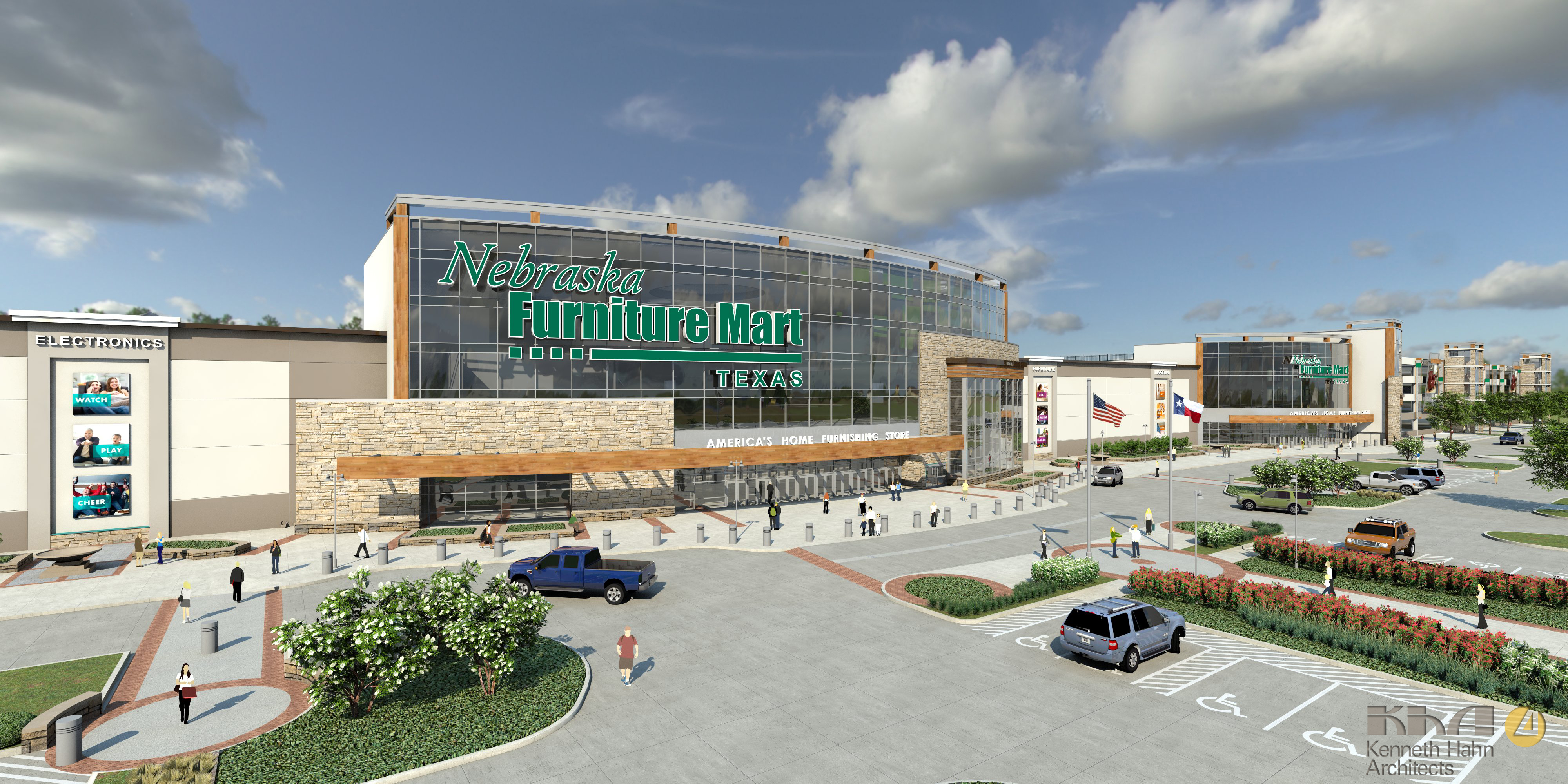Nebraska Furniture Mart prides itself on offering something for every design style, be it mid-century, traditional, rustic or glam, and every budget. With thousands of sofas, recliners, tables, and rugs in stock, they have the merchandise to back it up.
